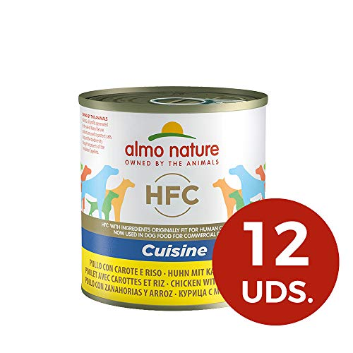 Almo Nature Dog HFC Cuisine Pollo, Zanahoria y Arroz, Pack de 12x280 g
