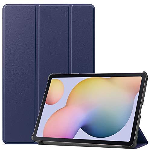 Lobwerk Schutzhülle für Samsung Galaxy Tab S7 SM-T870 T875 Slim Hülle Etui mit Standfunktion & Auto Sleep/Wake Funktion Blau