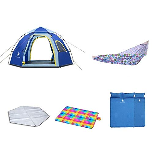 WY-YAN  HWZP Outdoor Tents Single Layer Waterproof Fabric Production Unisex Can Accommodate 2-3 People Blue Travel Equipment