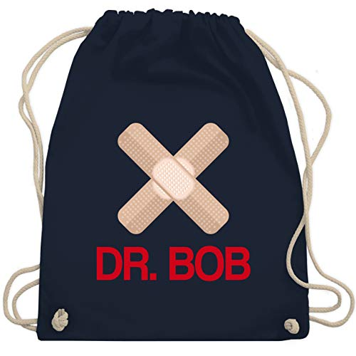 Shirtracer Karneval & Fasching - Dr. Bob Kostüm Pflaster - Unisize - Navy Blau - Geschenk - WM110 - Turnbeutel und Stoffbeutel aus Baumwolle