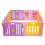 Mcc® Box Bambini Recinto Bimbo in plastica con 8 pannelli, Barriera Protettiva con Cancel...