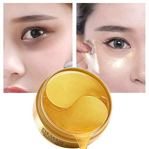 ColorfulLaVie 60 Pcs Eye Mask, Augenpads, Gold Collegan Augenmaske, Collagen Augenpad, Kollagen Augenpads, Anti-Falten Pads, ollagen Golden Eye pad Augenpads