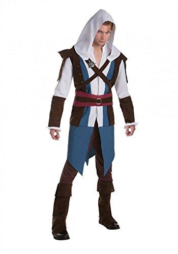 Assessin's Creed Edward Kenway Herren Kostüm Assassinen Orden Cosplay Meuchel-Mörder LARP, Größe:XL