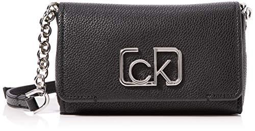 Calvin Klein Damen Ck Cast Sml Flap Xbody Tote, Schwarz (Black), 7x16x15 centimeters