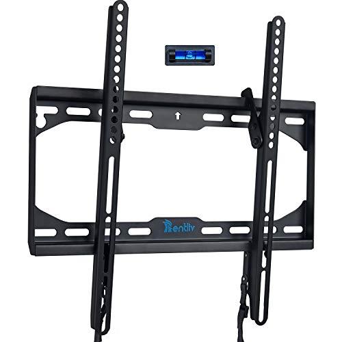 Soporte de pared para TV para la mayoría de los televisores pantallas planas y curvas de entre 23 y 55 pulgadas, Soporte Inclinable para TV Max VESA 400x400 mm, hasta 50 kg