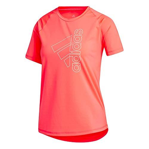 adidas Damen Tech Bos T-Shirt, Signal pink, M