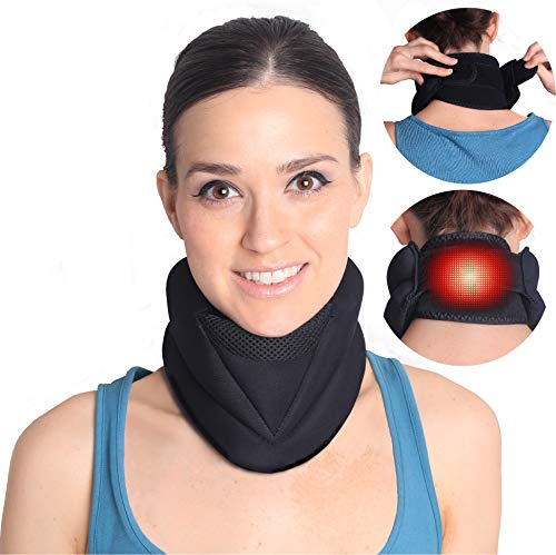 Magnetic Electric Heating Neck Brace for Neck Pain and Support-...