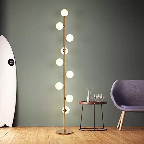 Moderne LED bedlampje bedlampje deco huis verlichting glazen bol vloerlamp slaapkamer Nordic 4 X 100 M