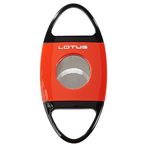NEW LOTUS JAWS 60-RING GAUGE SERRATED BLADES CIGAR CUTTER - RED&BLACK