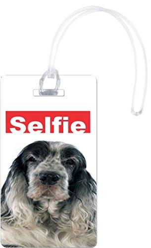 Rikki Knight My Best Friend is A Giant Schnauzer Dog Flexi Luggage Tags, White