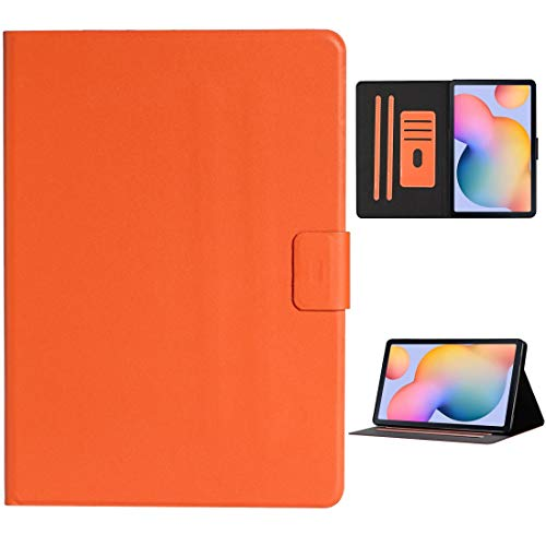 Zhangsihong Protective Case For Samsung Galaxy Tab S6 Lite (P610/615) Solid Color Horizontal Flip Leather Case with Card Slots & Holder & Sleep/Wake-up Function (Color : Orange)