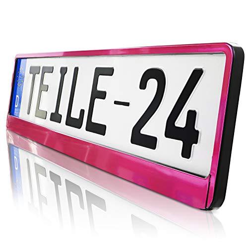 2 x Kennzeichenhalter | PINK | HP | 520 x 110 | DHL Schnellversand