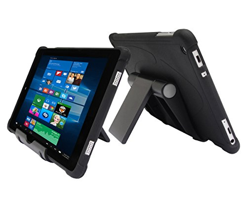 iShoppingdeals Protecive TPU Case + Adjustable Stand for Nuvision 8' (TM800W610L) Tablet Windows 2017 Release (Black)