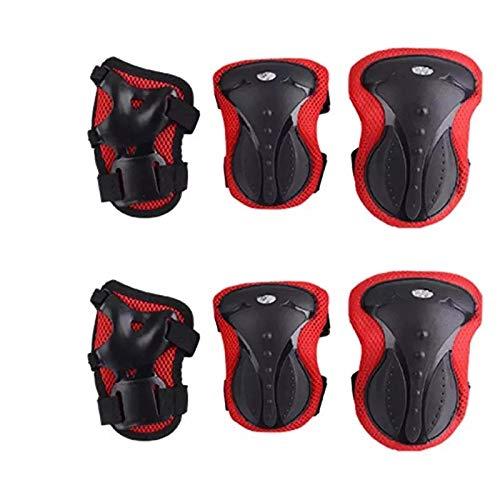 Kinder Erwachsene Skates Skateboard Schutzausrüstung Helm Fahrrad Roller Verdickung Schutz sieben-teilig,Farbe,Verdickter Kinderhelm - pink,Größe,Einheitsgröße