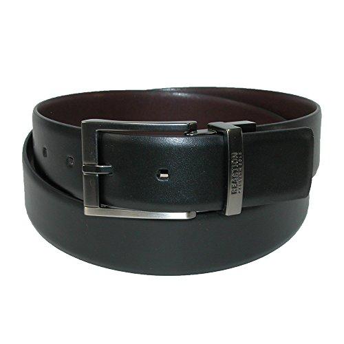 Kenneth Cole REACTION Men's Reversible Dress Belt, Feather-Edge Black/Brown, 36