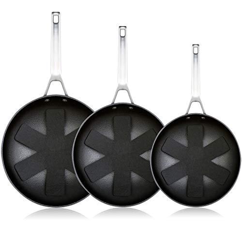 WECOOK Ecosteel Set Juego 3 Sartenes 20-24-28 cm inducción, 3 Capas Antiadherente...