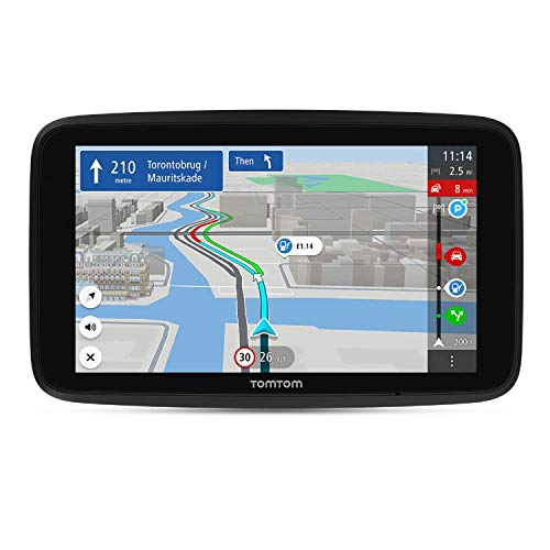 TomTom Car Sat Nav GO Discover, 7 Inch, with Traffic Congestion and Speed Cam Alerts thanks to TomTom Traffic, World Maps, Quick-Updates via WiFi, Parking Availability, Fuel Prices, Click-Drive Mount