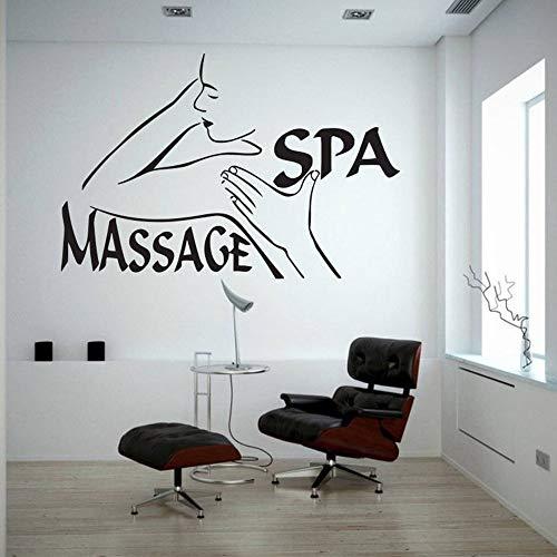 Tianpengyuanshuai Muursticker spa massage vinyl sticker kunst schoonheidssalon muur raam decoratie afneembaar zelfklevend