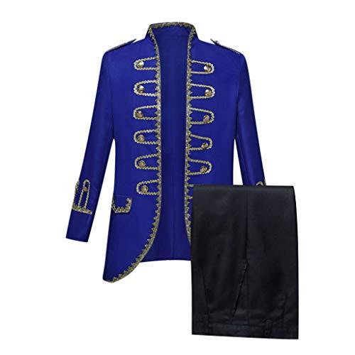 Heren retro smokings + broek Europese stijl gerecht kostuums militaire uniformen prestaties pakken kostuum kostuum carnaval kostuum feest bruiloft