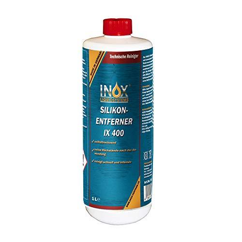 INOX® IX400 Silikonentferner, 1L - Universeller Reiniger zum Lösen und Entfernen von Silikon, Fett, Öl und Wachs