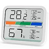 LIORQUE Termómetro Higrometro Digital, Medidor de Temperatura y Humedad con Registro...