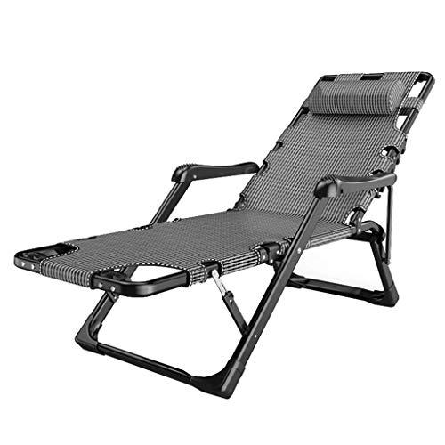 FGVBC Sillón reclinable reclinable para el Sol Silla de jardín reclinable Plegable de Alta Resistencia con reposapiés Sillas de terraza con portavasos Sillas de Gravedad Cero colocadas en Plano