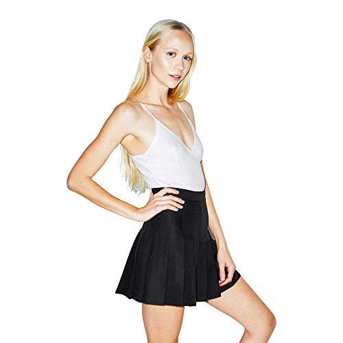 American Apparel Women's Gabardine Tennis Skirt, Black, X-Small