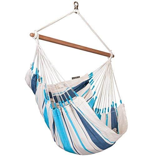 LA SIESTA - Caribena Aqua Blue - Hängestuhl Basic aus Baumwolle