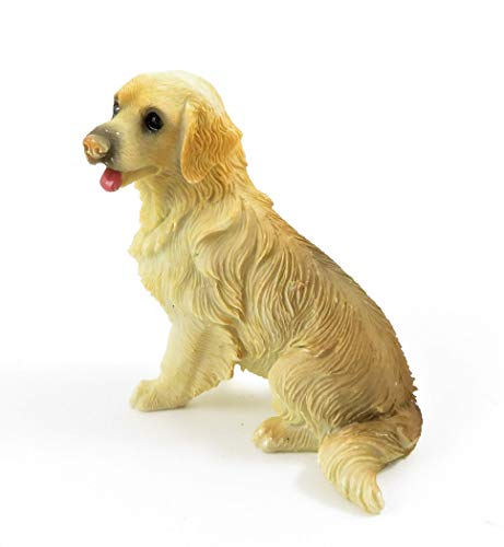 Dolls House Golden Retriever Sitting Pet Dog Miniature 1:12 Scale Accessory