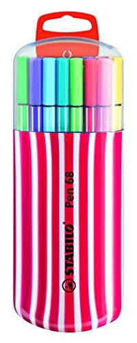 Premium-Filzstift - STABILO Pen 68 - 20er Zebrui in beere - mit 20 verschiedenen Farben