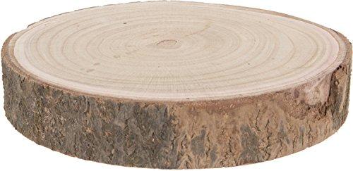 CHICCIE Deko Holz Baumstamm Unterlage - Ø mindestens 23cm - Tablett Untersetzer