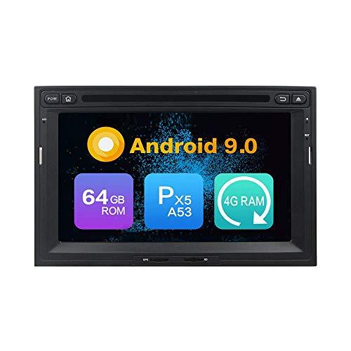 Android 9.0 Core PX5 4G RAM 64GB ROM Autoradio GPS Navigation Reproductor Multimedia Car Stereo Control de volante de unidad principal de radio por PEUGEOT 3008/5008PG Parter 2010-2016CITROEN Berlingo
