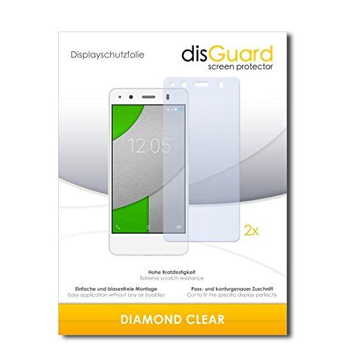 disGuard 2 x Bildschirmschutzfolie BQ Readers Aquaris A4.5 Schutzfolie Folie DiamondClear unsichtbar