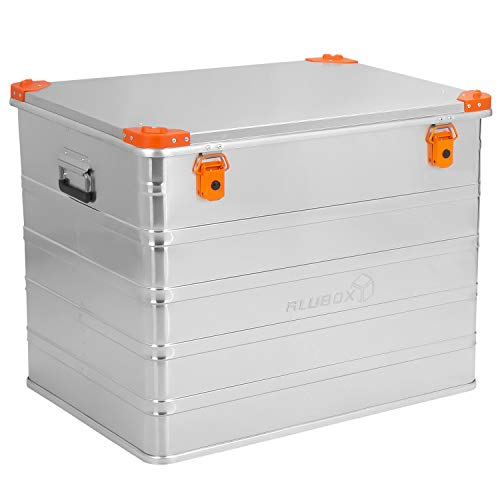 ALUBOX D240 Premium Aluminium Lagerbox Alukiste 240 Liter mit Stapelecken