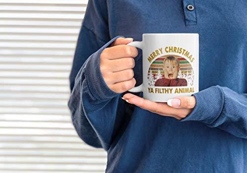 Christmas Mug, Merry Christmas Ya Filthy Animal Mug, Home Alone Mug, Christmas Tea and Coffee 11oz