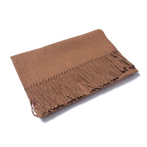 LJYTWY dames sjaal golvend design plafond sjaal en handdoeken lange grote deken warme winter dikker zachte poncho, 200x70cm