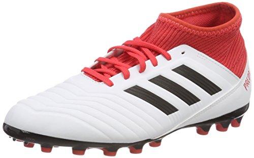 adidas Unisex Predator 18.3 AG Fußballschuhe, Weiß (Footwear White/Core Black/Real Coral), 38 2/3 EU
