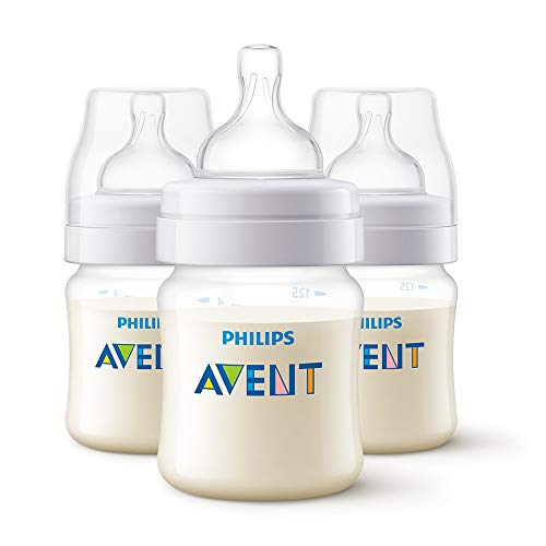 Philips Avent Classic+ Baby Bottles, 125ml, 3-Pack, SCF560/37