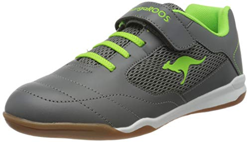 KangaROOS RaceYard EV Unisex-Kinder Sneaker, Grau (Steel Grey/Lime 2014), 39 EU