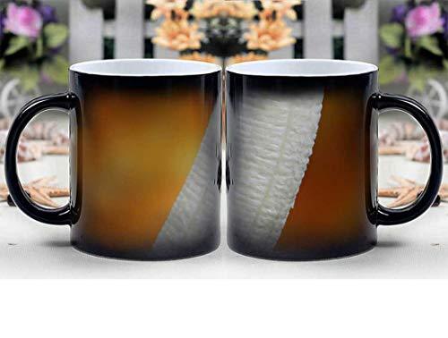 Amymami Personalized Gifts Heat Changing Magic Coffee Mug - Banana Breakfast Colorful Condom Defend Disease