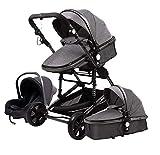 Romatgo Baby Stroller 3 in 1 Luxury Umbrella Newborn Baby Strollers