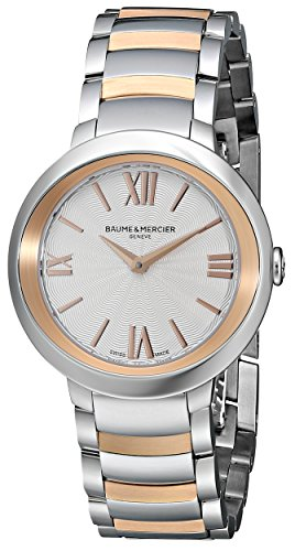 Baume & Mercier Women's BMMOA10159 Promesse Analog Display Quartz Two Tone Watch
