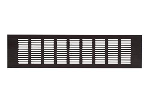 100x400 mm Aluminium Lüftungsgitter Braun/Schwarz Stegblech Lüftung Alu-Gitter Gitter Möbelgitter Möbellüftung