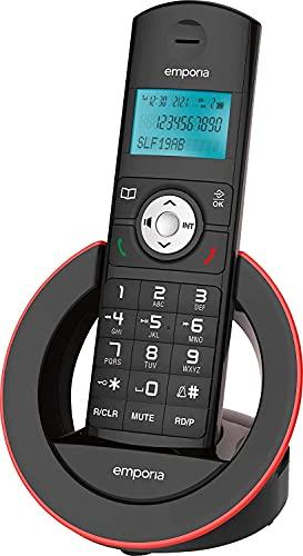 Emporia SLF19AB, Telefono Cordless, Portatile DECT, Display illuminato, Segreteria telefonica, Numeri Grandi, Vivavoce, Nero (Italia)