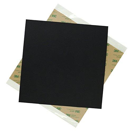 ILS 220 x 220 x 0,8 mm zwart mat PEI folie met dubbelzijdig plakband voor 3D-printer