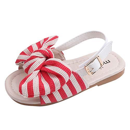 Enfants Sandales décontractées été Confortable s'arc rayé Princesse Chaussures pour Enfants Sandales de Marche de bébé