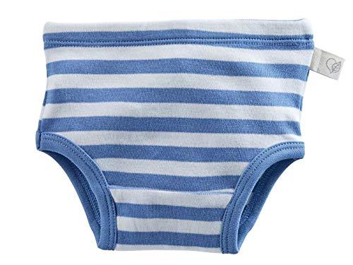 Bio Baby und Kinderslip 100% Bio-Baumwolle (kbA) GOTS zertifiziert, Blau Off-White, 74/80