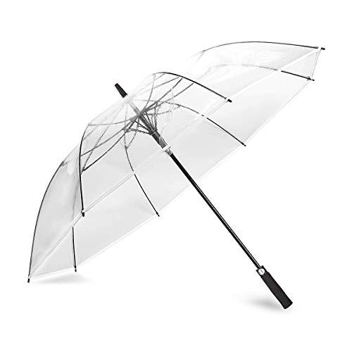 ZOMAKE, transparenter Golf-Regenschirm, großer winddichter Regenschirm für Frauen