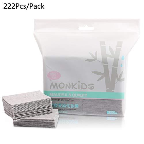 S-TROUBLE 222pcs tampons de Coton pour Le Visage en Charbon de Bambou jetable Maquillage cosmétique supprimer