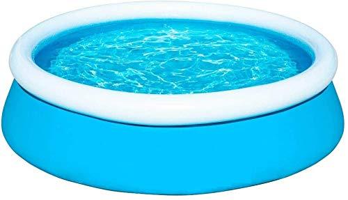 Slabo SO Pool Fast | Aufstellpool rund | Planschbecken aufblasbar | Gartenpool | Swimmingpool Schnellaufbau 183x51 cm